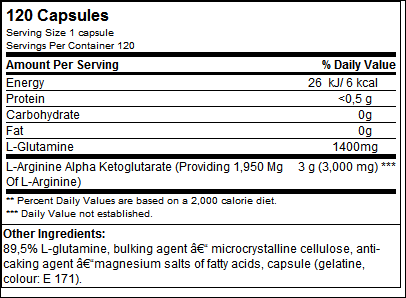 Glutamine 1400 (120 Mega Caps) - Olimp Sport Nutrition