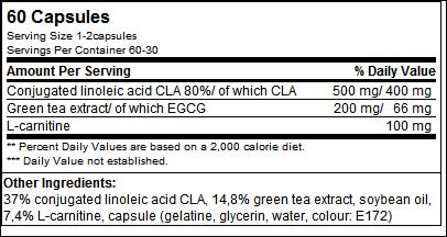 CLA & Green Tea Plus L-Carnitine - Olimp Sport Nutrition