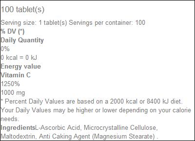 Vitamin C1000 - Biotech USA