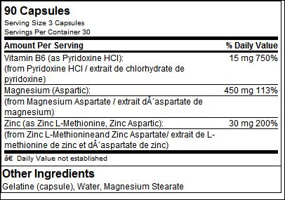 ZN-MG-B6 (ZMA) - Tested Nutrition