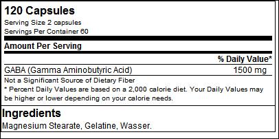 GABA - Tested Nutrition