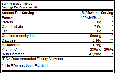 Creatine Tablets - Biotech USA