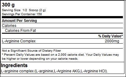 L-Arginine Powder (300g) - Biotech USA