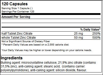 Zinc Citrate Health Line - GN Laboratories