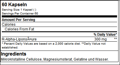 R-ALA - Tested Nutrition