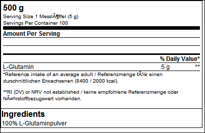 100% Pure L-Glutamin - B.A.M.
