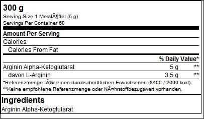 Ultra Pure Arginin-Ketoglutarat - B.A.M.