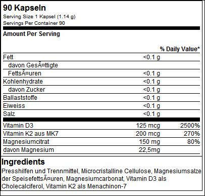 Vitamin D3 + K2 + Magnesium - Big Zone