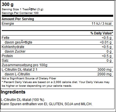 Citrullin Malat 2:1 Powder - IronMaxx