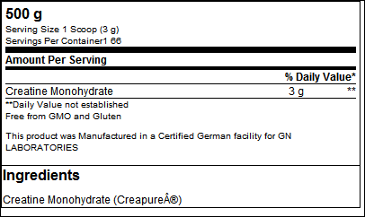 Pure Creatine Creapure - GN Laboratories