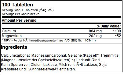 Calcium Magnesium - Best Body Nutrition