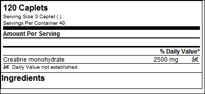 Platinum Pure Creatine 2500 - 120 caps - Muscel Tech