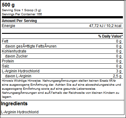 L-Arginine HCL 500g - ESN