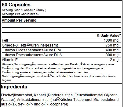 Super Omega 3 (60 Caps) - ESN