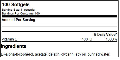 Vitamin E Formula - Universal Nutrition