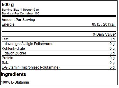 Ultra Pure L-Glutamine - ESN