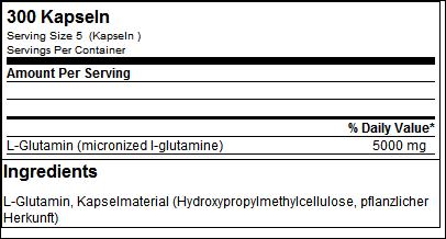 L-Glutamine Giga Caps - ESN