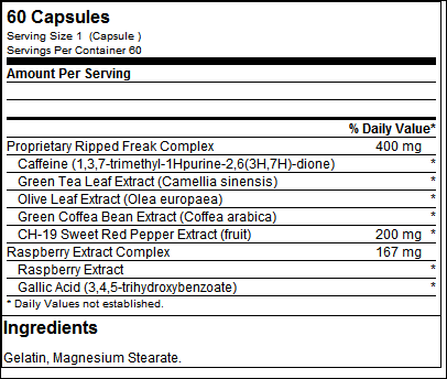Ripped Freak 60 Caps - PharmaFreak