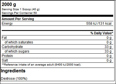 100% Dextrose (2000g) - ProteinBuzz