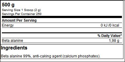 Beta Alanine (500g) - ProteinBuzz