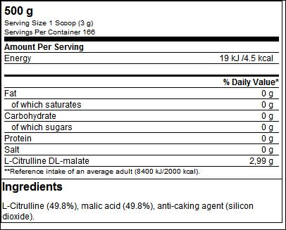 Citrulline Malate (500g) - ProteinBuzz