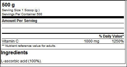 100% Vitamin C (500g) - ProteinBuzz