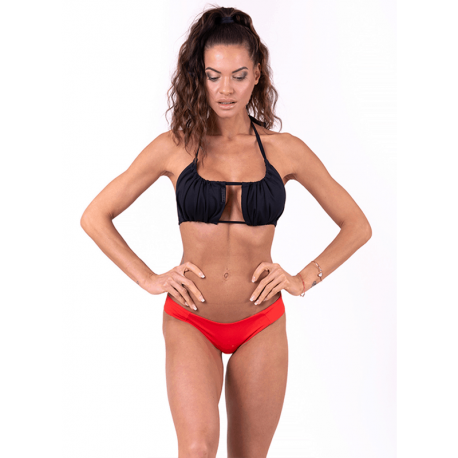 Bikini Top mit Falten 671 Black - Nebbia