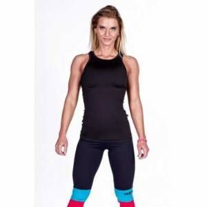 Cut-Out Fitness Top 268 Black - Nebbia