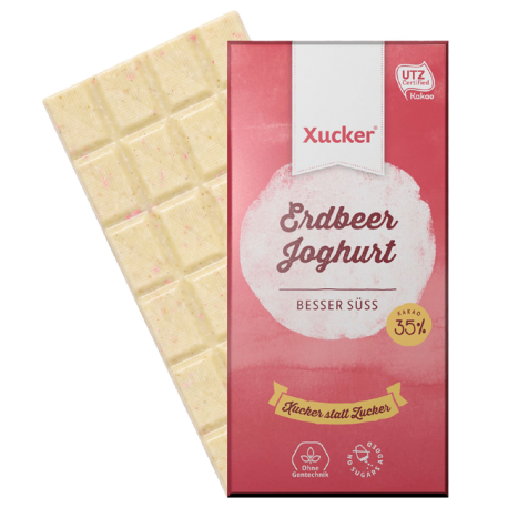 Xylit Weißolade Erdbeer Joghurt - Xucker