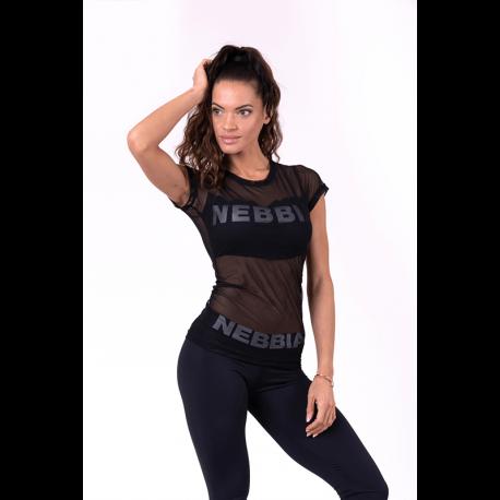 Flash-Mesh T-Shirt 665 Black - Nebbia