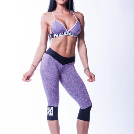 High waist ¾ leggings 607 Lila - Nebbia