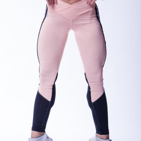 High waist mesh leggings 601 Salmon - Nebbia