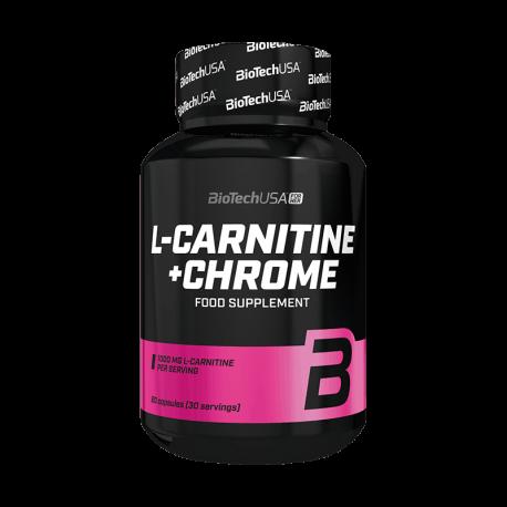 L - Carnitine + Chrome (60 Capsules) - Biotech USA