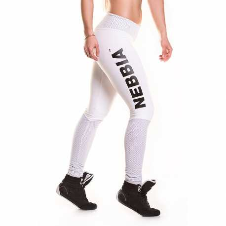 Leggings Heart Butt 280 White - Nebbia