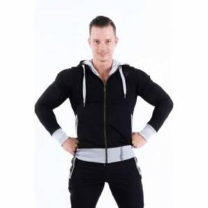 El. Jacket with Zip 107 Black - AW Nebbia
