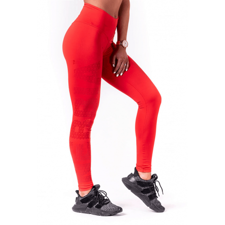 One Tone Pattern Leggings 677 Red - Nebbia