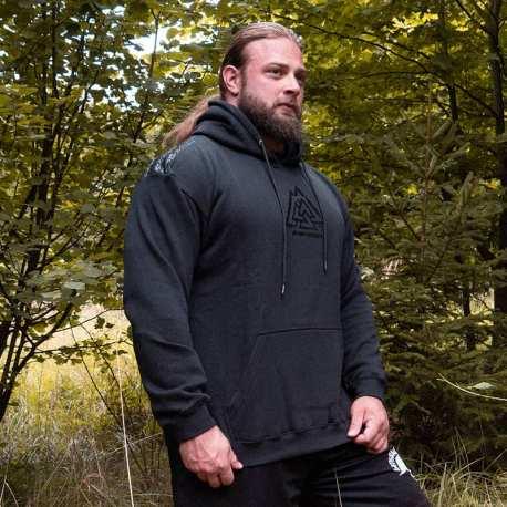 Powerlifting Grip Hoodie Black - Gods Rage