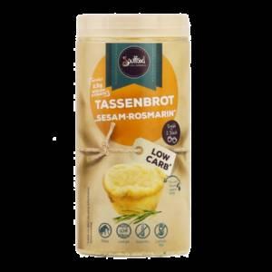 Tassenbrot Sesam-Rosmarin - Soulfood LowCarberia