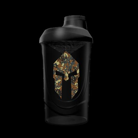 Spartan Shaker Camouflage Black (600ml) - Gods Rage