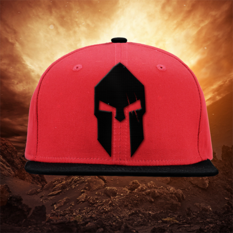 Spartan Helmet Red Snapback - Gods Rage