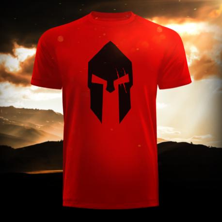 Spartan Red Long Tee - Gods Rage