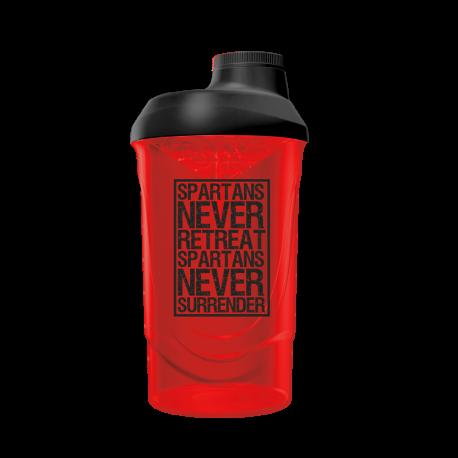 Spartans Never Surrender Shaker Red/Black (600ml) - Gods Rage