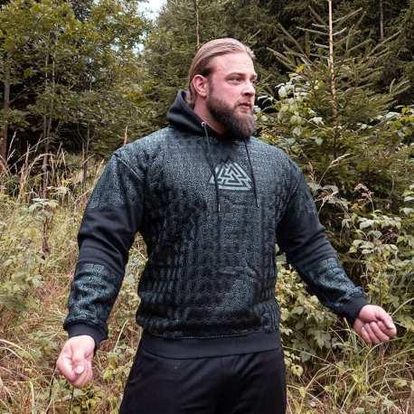 Strongman Grip Hoodie Black - Gods Rage