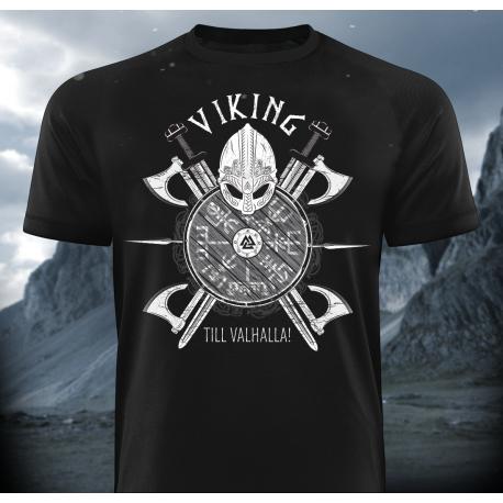 Viking Till Valhalla T-Shirt - Gods Rage